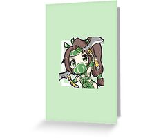 Chibi Akali League of Legends Greeting Card