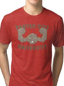 Pewter City University Tri-blend T-Shirt