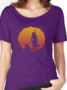 BB-8 & Rey : Jakku Sunset Women's Relaxed Fit T-Shirt