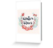 Winter Blues 002 Greeting Card