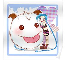 Jinx and Poro League of Legends Poster
