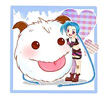 Jinx and Poro League of Legends Photographic Print
