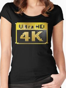 4K Ultra HD Women's Fitted Scoop T-Shirt