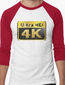 4K Ultra HD Men's Baseball ¾ T-Shirt