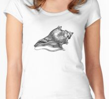 Vintage sea shell Women's Fitted Scoop T-Shirt