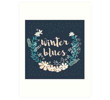 Winter Blues 004 Art Print