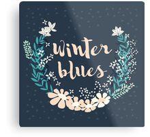 Winter Blues 004 Metal Print