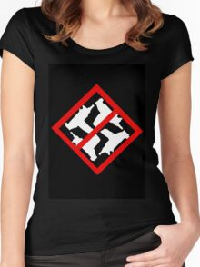 Nazis Keep Out - Uzi Women's Fitted Scoop T-Shirt