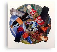 Recycling Collage Canvas Print