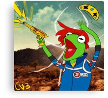 Kermit the Party Frog Canvas Print