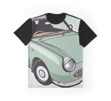 Nissan Figaro - Emerald Green Graphic T-Shirt
