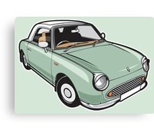Nissan Figaro - Emerald Green Canvas Print