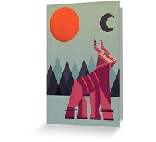 Mountain Deer Greeting Card