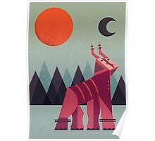 Mountain Deer Poster
