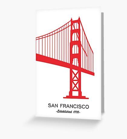 San Francisco. Greeting Card