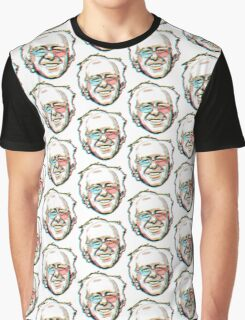 Bernie Sanders Portrait 3D Glasses 2016   Graphic T-Shirt