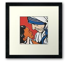 Mother Teresa and Child Framed Print
