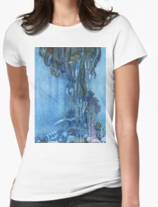 Sea life design Womens Fitted T-Shirt
