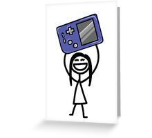 Game girl Greeting Card