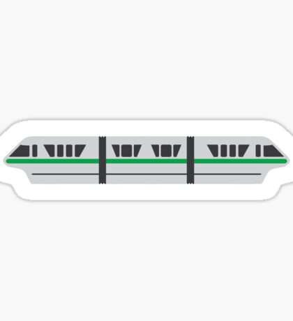 MONORAIL - GREEN Sticker