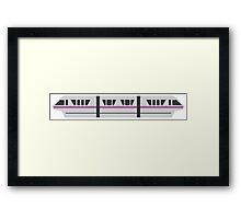 MONORAIL - LIGHT VIOLET Framed Print