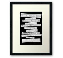 mrbbbb Framed Print