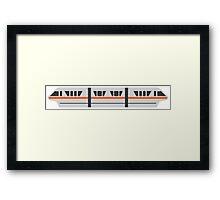 MONORAIL - ORANGE Framed Print