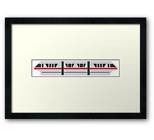 MONORAIL - RED Framed Print