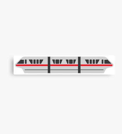 MONORAIL - RED Canvas Print