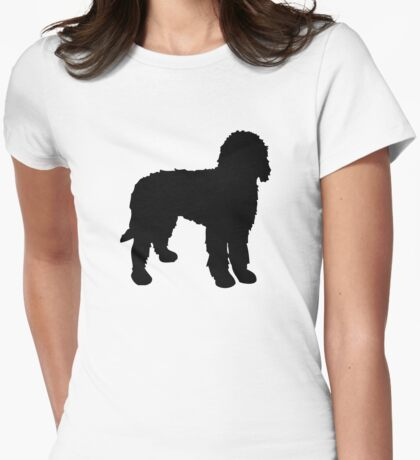 Labradoodle Silhouette Womens Fitted T-Shirt