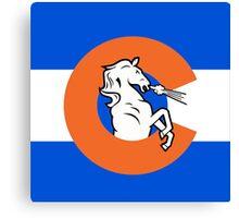 Denver Colorado Flag Canvas Print