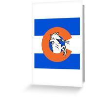 Denver Colorado Flag Greeting Card