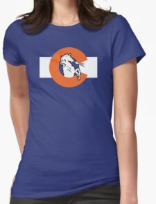 Denver Colorado Flag Womens Fitted T-Shirt