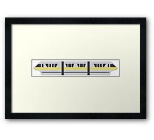 MONORAIL - YELLOW Framed Print
