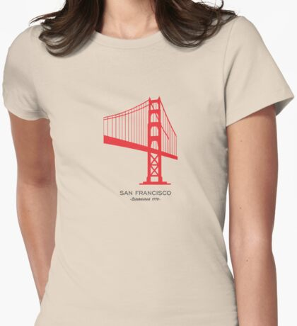 San Francisco. Womens Fitted T-Shirt