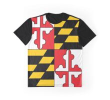 Maryland Flag Graphic T-Shirt