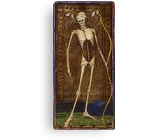 Medieval Death Illustration Canvas Print