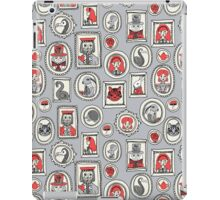 Wonderland framed portrait cute woodland alice in wonderland andrea lauren cheshire cat mad hatter alice iPad Case/Skin