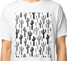 cactus desert southwest tribal succulent terrarium triangle geometric black and white  Classic T-Shirt
