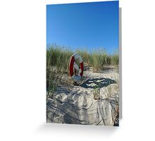Lifebuoy In The Dunes Greeting Card