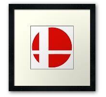 Super Smash Bros red logo Framed Print