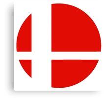 Super Smash Bros red logo Canvas Print