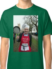 Alastair Stewart ITV news reader at the Rehab Parliamentary Pancake Race 2016 Classic T-Shirt