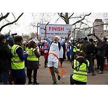 Clive Lewis MP wins the Rehab Parliamentary Pancake Race 2016 Photographic Print