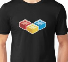 3 Bricks on dark background Unisex T-Shirt