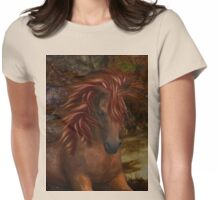 Flame .. A Wild Horse Womens Fitted T-Shirt
