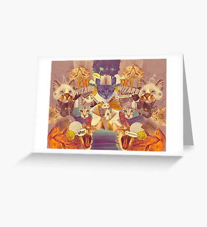Cats n Books n Books n Cats Greeting Card