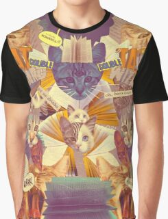 Cats n Books n Books n Cats Graphic T-Shirt