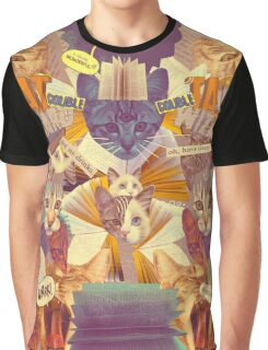 Cats n Books n Books n Cats Graphic T-Shirt