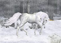Frost .. the Winter Unicorn by LoneAngel